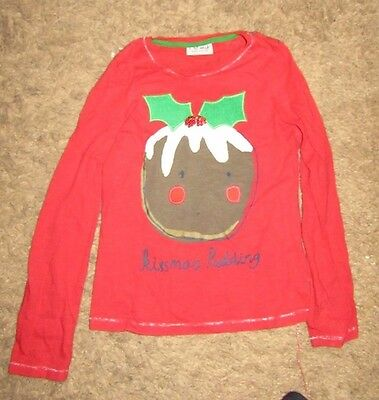 Next Little Girls Christmas Pudding Top - Age 5 - 6