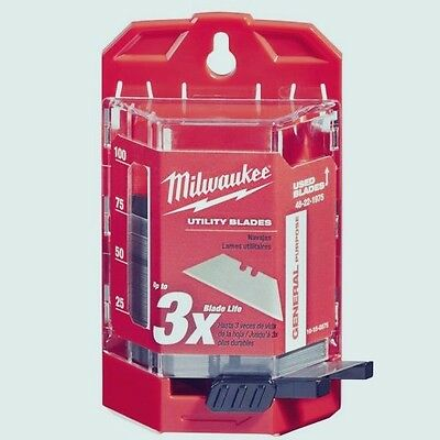 Milwaukee 75pcs General Purpose Utility knife razor Blades Dispenser 48-22-1975