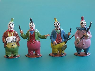 Timpo Clown Musician Set - Rare Vintage Lead