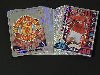 Match Attax 2016 2017 16 17 - Full Set Of 20 Club Badge & 20 Star Player Cards