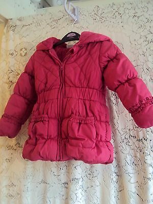 Girls Cerise Pink Padded Winter Coat Size 4 - 5 Yrs  Mini Club  Boots