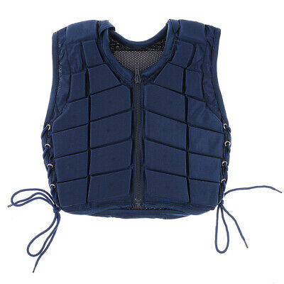 New Safety Horse Riding Vest Equestrian Body Protective Gear Navy Youth/Adult