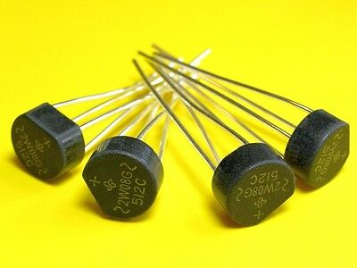 [50 pcs]. VISHAY 2W08G Bridge Rectifier 2A 800V