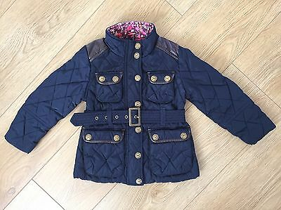 Dark blue quilted Next winter coat 4 Y 104 cm