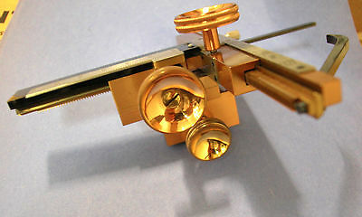 E. Leitz vintage  mechanical microscope stage  LEITZ BRASS KREUZTISCH