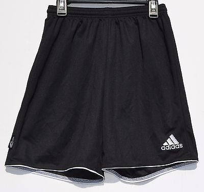Adidas black soccer shorts adult small