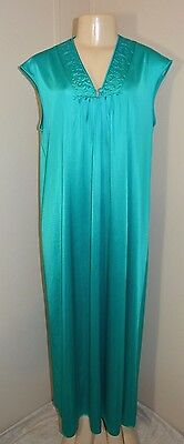 """Vintage Silky Nylon Long Nightgown-M-Bust To 42"""""""