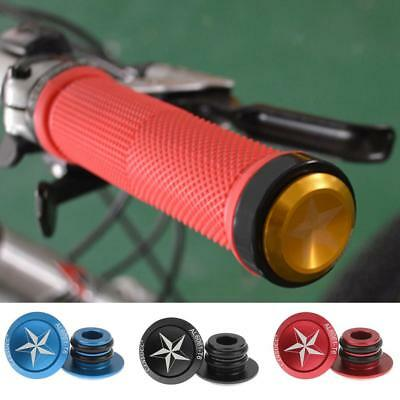 1 Pair Aluminum Alloy Grip Handlebar End Plugs for Mountain/Road Bicycle