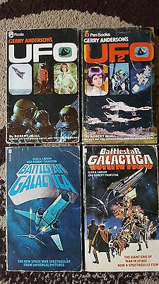 Battlestar Galactica & Ufo Paperback Books Gerry Anderson
