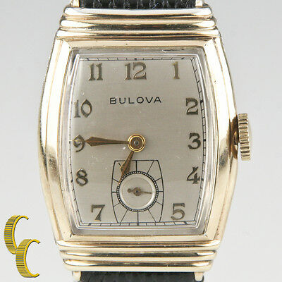 vintage windup mechanical bulova 10k gold filled men s watch bulova men s vtg 10k gold filled mechanical hand winding watch gift for