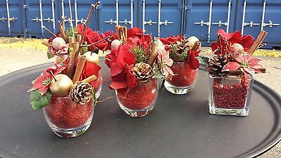 12 table glass vase Christmas decoration for restaurant banquet home