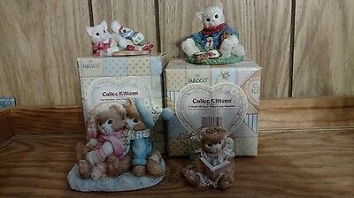 Lot Of 4 Christmas  Calico Kittens ~ All Are Retired & In Very Good Condition ~