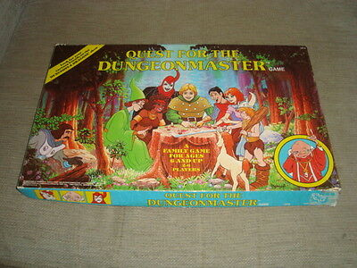 Quest For The Dungeonmaster Board Game By Tsr(1984):100% Comp Incl Tsr Logo Card