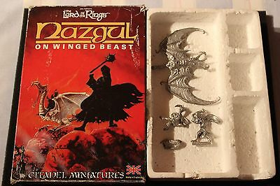Games Workshop Citadel BME2 Lord of the Rings Nazgul on Winged Beast Complete GW