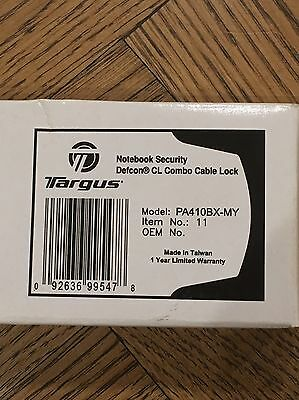 Targus Notebook Security Cable lock