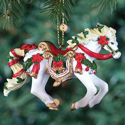 HORSE OF A DIFFERENT COLOR - Christmas Carousel - Christmas Ornament - Resin