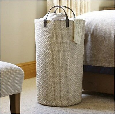 Soft Laundry Tote Hamper Tall Standing Bin 50 Litre Basket Handles Easy Carry