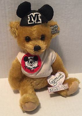 Vtg Annette Funicello Teddy Bear Mohair Mickey Mouse Club Tag Pin Disney