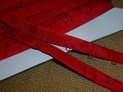 5 Mtrs x Bright Red Hook and Eye Tape 3cm ( RHE5 )