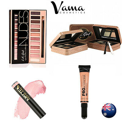 La L.a. Girl Xmas Gift Pack Concealer Eyeshadow Palette Eyebrow Kit Lipstick