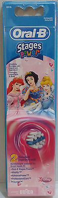 Oral-B Kids Princess Stages Power Electric ToothBrush Refills Heads x 2 AUS