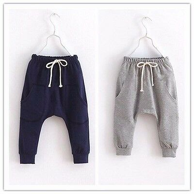 Kids solid children pants for boys trousers girls harem pants candy Casual Pants