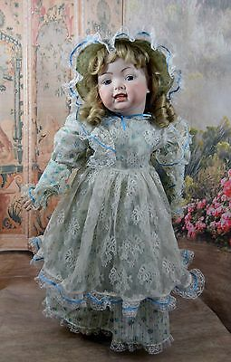 HUGE Antique Artist Reproduction French Jumeau LaughingToddler Bisque Doll
