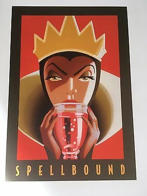 """SPELLBOUND"" Evil Queen from Snow White 11""x14""  Disney Classics Art Print - NEW"