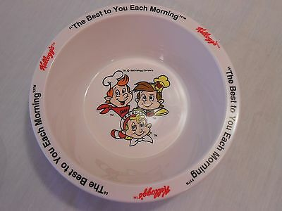 NEW  1995 Kellogg's RICE KRISPIES Character Cereal Bowl-w/Protector
