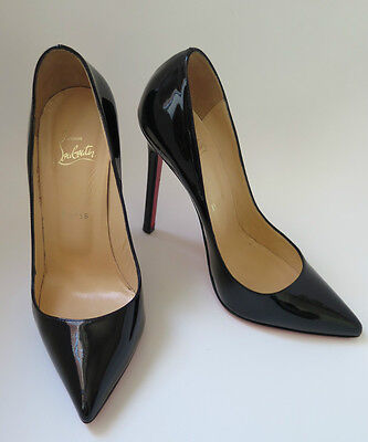 9b49de0f87b ALMOST BRAND NEW  Christian Louboutin Pigalle 120 Black Patent Size 38.5  (8.5US)