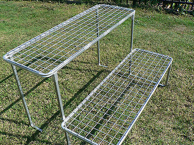 Plant Stand steel outdoor - 2 shelf flat pack