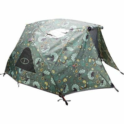 Poler Two Man Tent with Waterproof Rain Fly Olive One Size