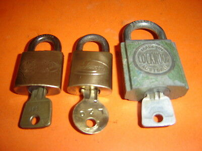 Vintage Lockwood Padlocks with Keys -Made in Australia
