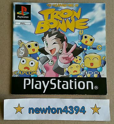 The Misadventures Of Tron Bonne PS1 PlayStation *INSTRUCTION MANUAL ONLY* PAL ✨