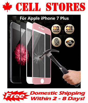 3D Curved 9H Full Cover Tempered Glass Screen Protector for iPhone 6 6s + 7 Plus