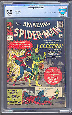 Amazing Spider-Man #9 Cbcs 5.5! First Electro!  White Pages!
