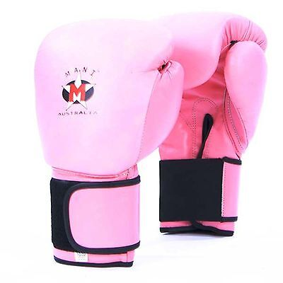 **top Quality***sale** Ladies Pink Leather Boxing Gloves Sparring Punch Mma K1