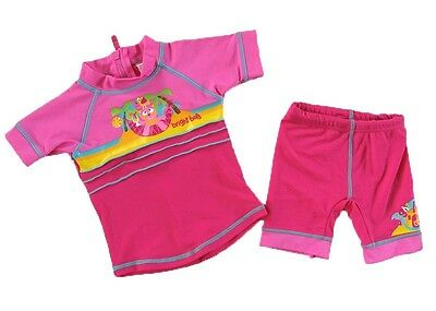#R03a - NEW Bright Bots Baby Girl's  Rashie Suit Swimsuit Size 0-3m  UPF50+