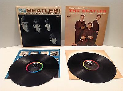 Beatles LP Records Meet The Beatles T2047 & Introducing The Beatles LP1062