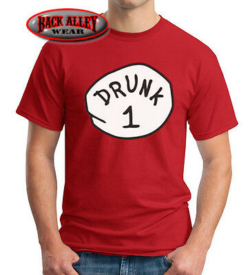 DRUNK 1 2 3 4 5 6 T-SHIRT Dr Thing ~ Easy Funny Costume ~ Beer Drinking Alcohol