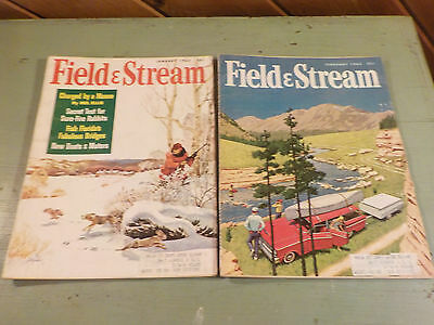 VINTAGE 1963 JANUARY & FEBRUARY ISSUES  Field & Stream Magazine  GREAT ADS