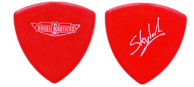 DOOBIE BROTHERS Guitar Pick : 2013 Tour - Skylark bass red signed