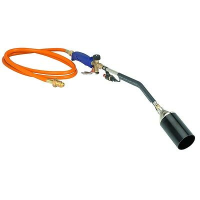 Propane Torch Weed Burner Hose Head Flame Ice Melt Push Button Blow Roofers NEW
