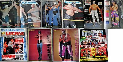 El Halcon   Lot Of  Wrestling Magazines In Spanish Mil Mascaras Mano Negra