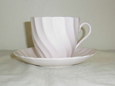 Tuscan Large Vintage Cup And Saucer  : Pink Swirls