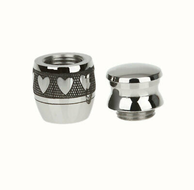 Love Heart Ashes Urn For Pet Ashes -Cremation Memorial Keepsake Silver