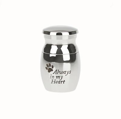 Always in my Heart Paw Print Pet Cremation Memorial Urn for Dog Cat Pets