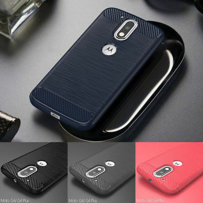 Shockproof Soft Phone Case Brushed Cover For Motorola Moto G4 G5 Plus/Play X4 C