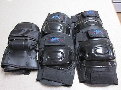 Protection Gear Knee- Elbow- And Wrist Guards For Adults In As New Condition