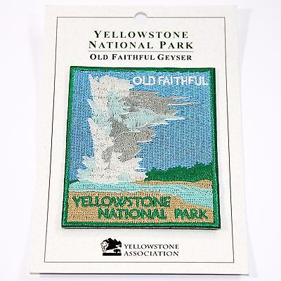 Official Yellowstone National Park Souvenir Patch Old Faithful Geyser Wyoming